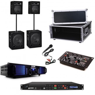 Musik-Sound PA Set - Stereo mit Subwoofer im 19